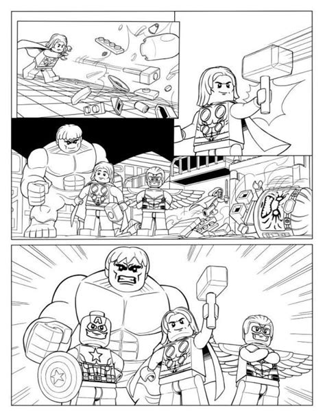 Kleurplaat Lego Dc Comics by Coloring Page Lego Marvel P10 Comic