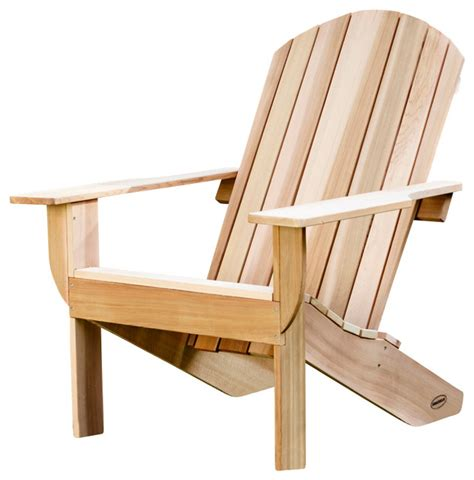clear western red cedar adirondack chair kit rustic