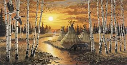Native American Wallpapers Murals Indian Indians Wolf