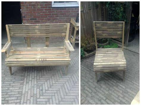 zitsbank en stoel pallet bench chair  pallets
