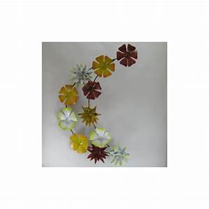 Plaque Décorative Murale : fleurs d coration m tal murale maison jardin ~ Preciouscoupons.com Idées de Décoration