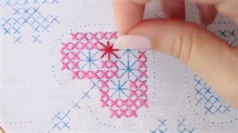 embroider  cross stitch youtube