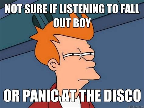Fall Out Boy Memes - no nope brendon and patrick sound different there is an audible difference fangirl out