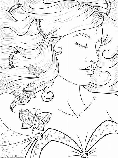 Coloring Pages Adult Sleeping Beauty Lineart Deviantart