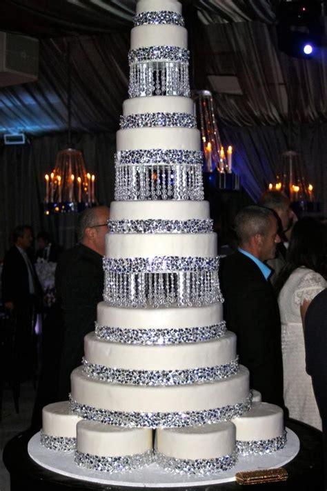 bling wedding cakes bling wedding cake wedding silver grey