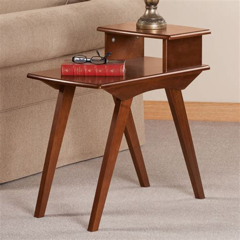 two tier end table two tier end table by oakridge side table easy comforts