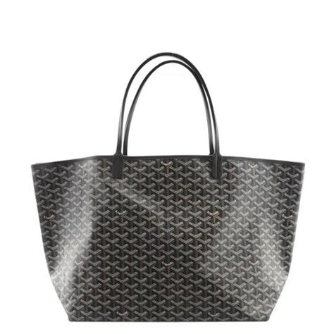 goyard mm monogram black canvas tote tradesy