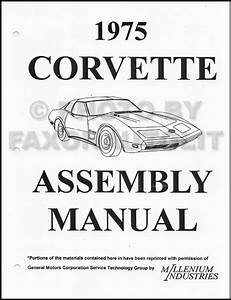 1975 Corvette Wiring Diagram Manual Reprint