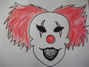 Easy Scary Clown Drawings