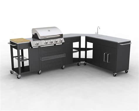 meuble cuisine modulable barbecue gaz inox meuble cuisine d 39 angle modulable
