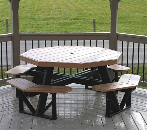 Outdoor Tables For Sale by Octagon Polywood Picnic Table 1286 When S The Half