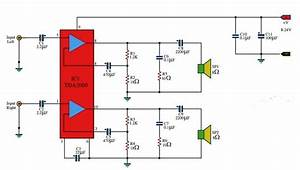 Tda2009 10wx10w Stereo Amplifier Circuit
