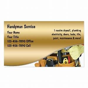 Handyman business cards zazzle for Handyman business card template