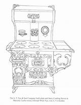 Coloring Stove Nye Castle sketch template