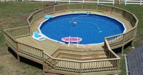 sunken pool decks  ground pool decks pinterest