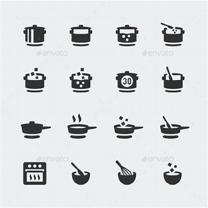 Cooking Icons Vector Mini Icon Pictogram Recipe