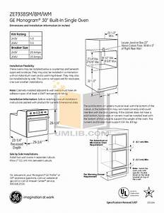 Download Free Pdf For Ge Monogram Zet938smss Oven Manual