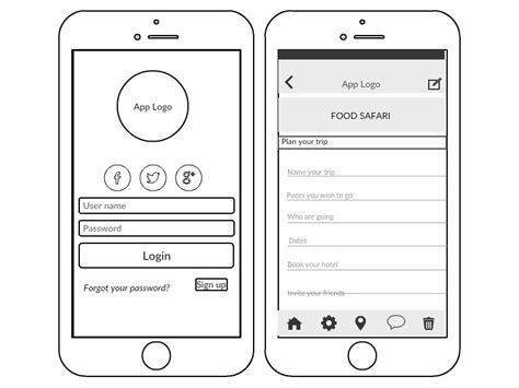 wireframe template wireframe and ui mockup tool creately