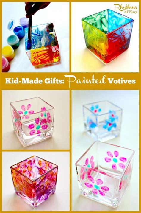 painted votives  kids   head   kids