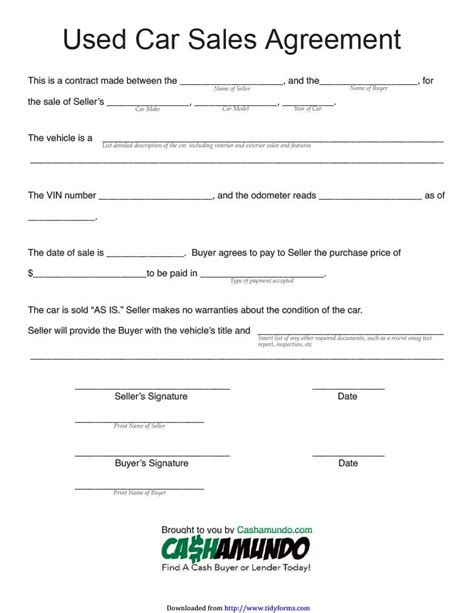 car payment plan agreement template 42 printable vehicle purchase agreement templates template lab