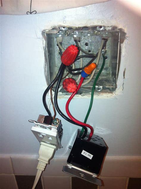 wiring    timer switch  bathroom exhaust fan