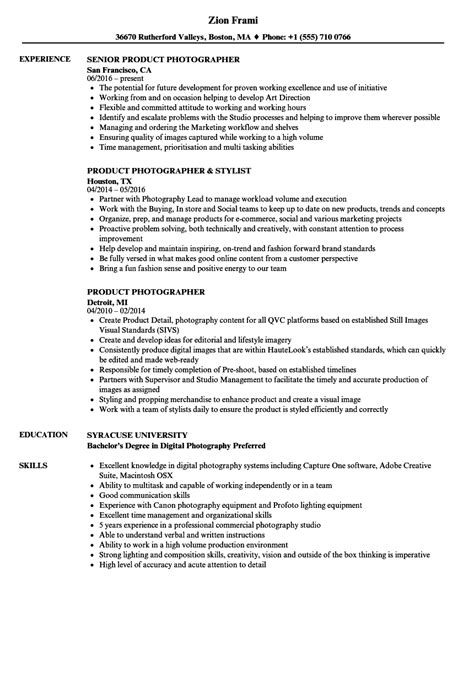 Photographer Resume | templatescoverletters.com