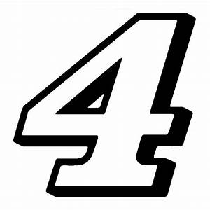 4quot Kevin Harvick New Number 4 Window Decal Vinyl Sticker 2