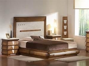 Lit Design Bois : lit design pas cher 3 design ~ Teatrodelosmanantiales.com Idées de Décoration