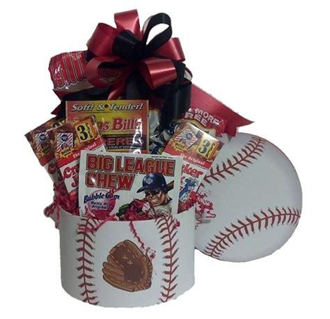 gifts for baseball fans baseball fan sports gift basket m r designs giftsm r