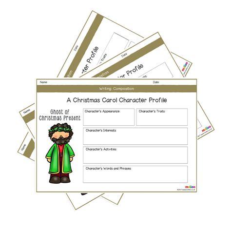 a carol character profile worksheets