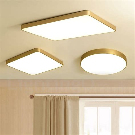 ultra thin  brass  dimmable led modern