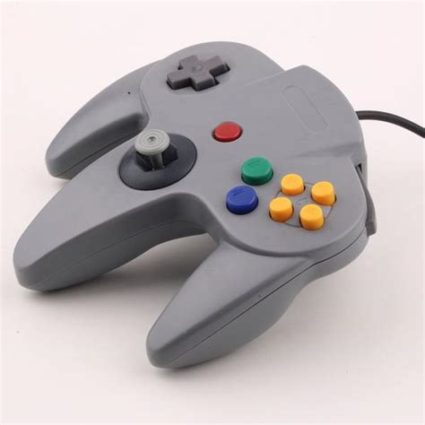 gray long handle game controller control remote pad