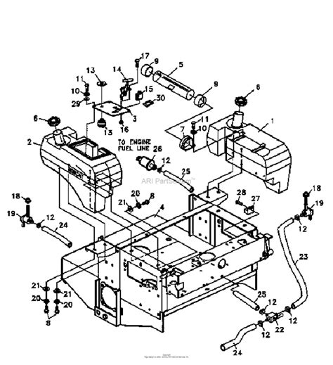 bunton bobcat ryan   zt power unit  hp kohler parts diagram  fuel tanks