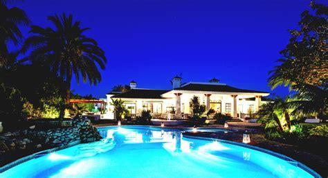 mansion pool  night viewing gallery goodhomezcom