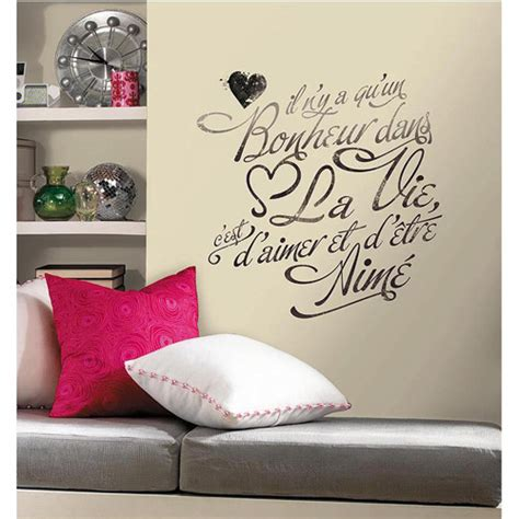 Wall Decor Stickers Walmart bonheur peel and stick wall decals walmart