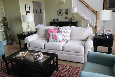 livingroom makeover turquoise and coral living room makeover afternoon artist