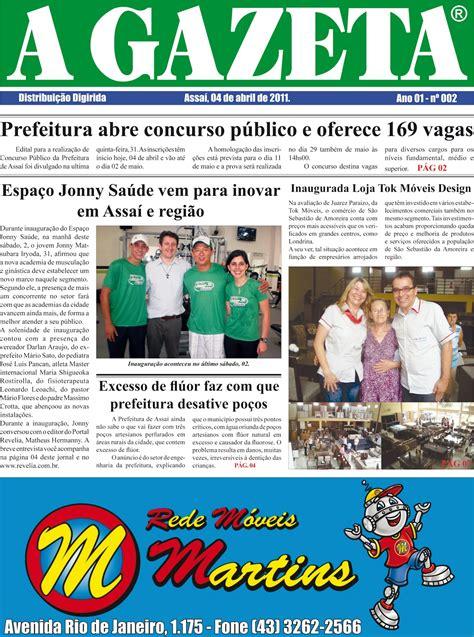 Assaí Noticias: Jornal A GAZETA chega às ruas
