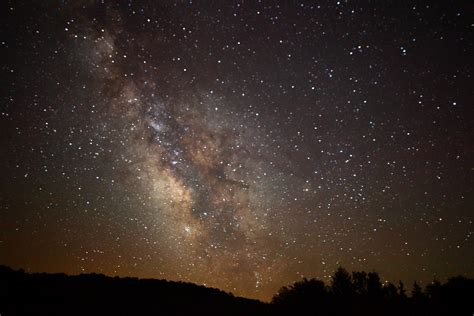 Center Milky Way Galaxy Mountains Flickr Photo Sharing