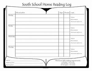 south school home reading log bestofhousenet 33297 With reading log for high school students template
