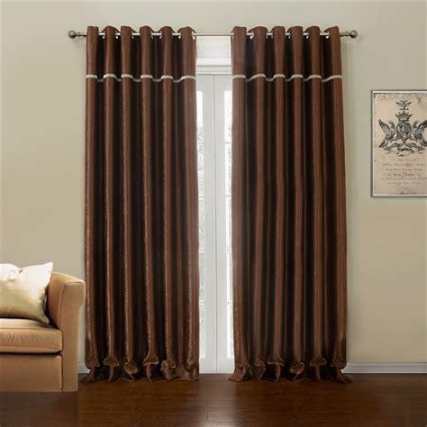 polyester blackout curtian dark brown custom curtain