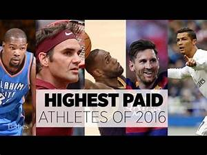 Top 10 Highest Paid Athletes - 2017 - YouTube