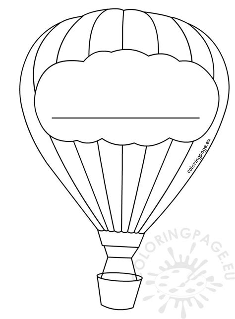 hot air balloon decoration template coloring page