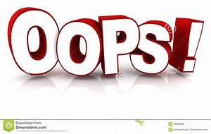 Oops Stock Illustration - Image: 49260938