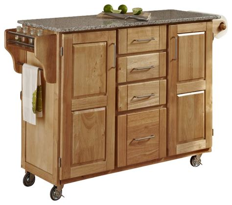 kitchen island cart granite top shop houzz home styles furniture create a cart white