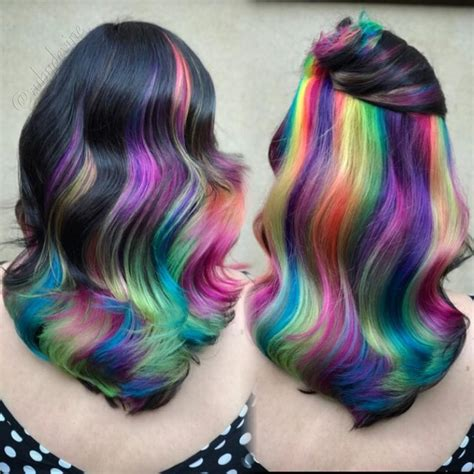 Colors That Go With Hair by This Rainbow Hair Look Combines Every Instagram Hair Color