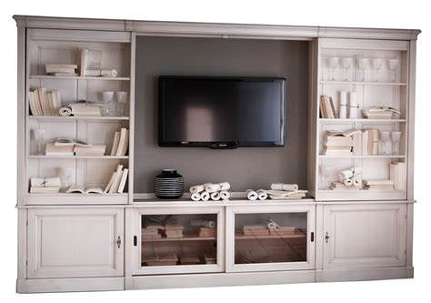 Tv In Bookcase by Sliding Tv Bookcase Wall Unit From Grange Furniture