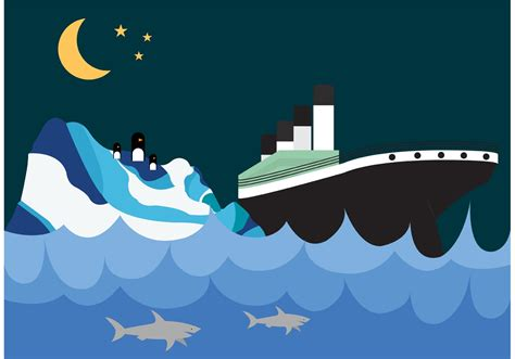 Titanic Boat Vector by Titanic And Iceberg Wallpaper Download Free Vector Art