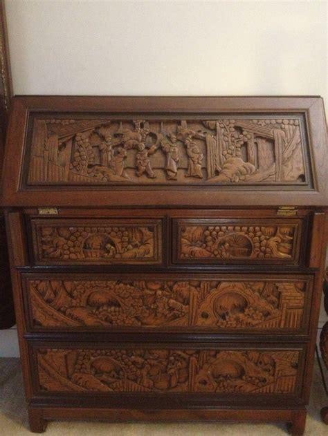 carved wood japanese bankers desk design  house