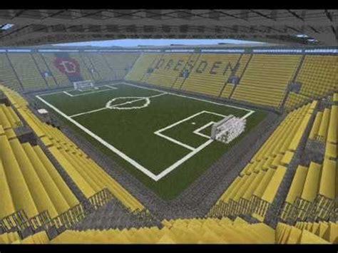 minecraft fussballstadion dynamo dresden youtube