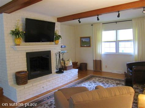 how to mount a on a brick fireplace updated